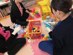 キッズルームのおもちゃの消毒  大田区蒲田の小児歯科・小児矯正