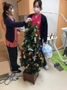 クリスマスの飾り付け  大田区蒲田の小児歯科