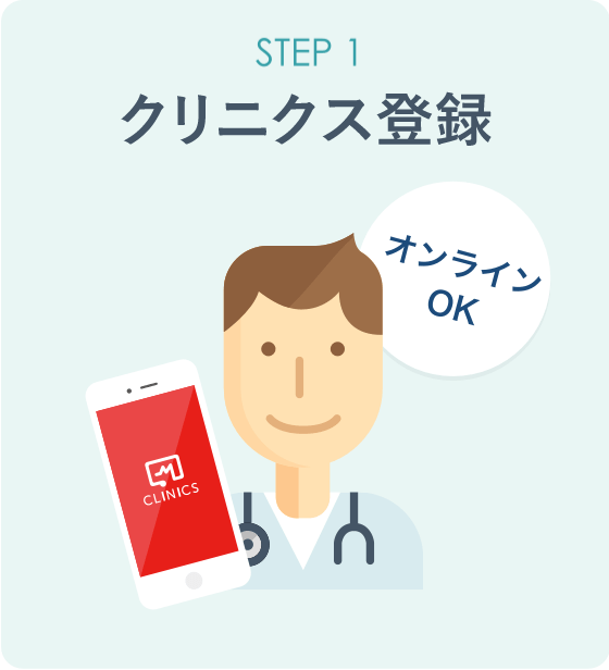 オンライン診療「クリニクス」STEP1:クリニクス登録