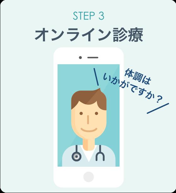 オンライン診療「クリニクス」STEP3:オンライン診療